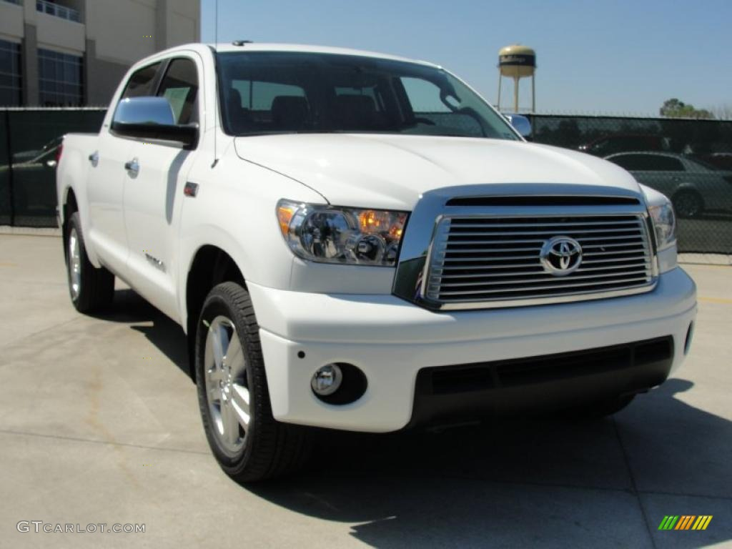 2011 super white toyota tundra limited crewmax 4x4 47445256 car color galleries. Black Bedroom Furniture Sets. Home Design Ideas
