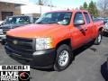 2009 Victory Red Chevrolet Silverado 1500 Extended Cab 4x4  photo #3