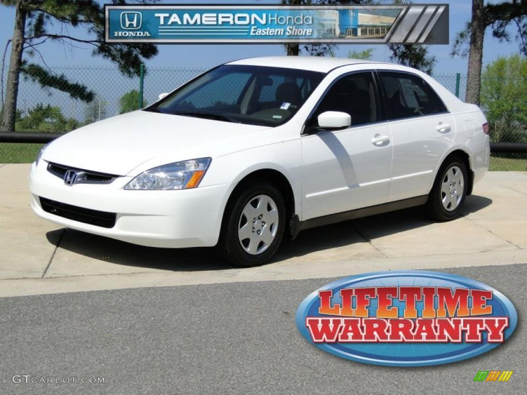 2005 Taffeta White Honda Accord Lx Sedan 47445677