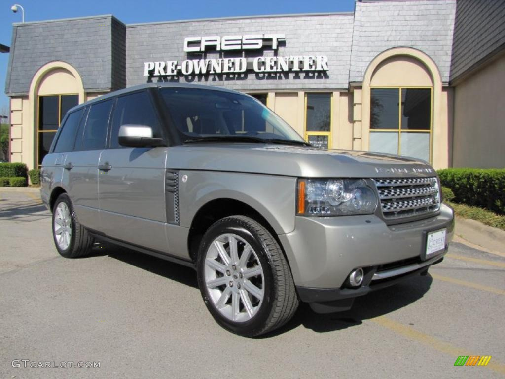2010 Range Rover Supercharged - Ipanema Sand Metallic / Arabica Brown/Ivory White photo #1