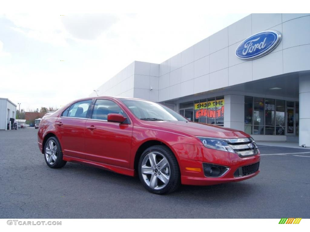 2011 Fusion Sport - Red Candy Metallic / Sport Red/Charcoal Black photo #1