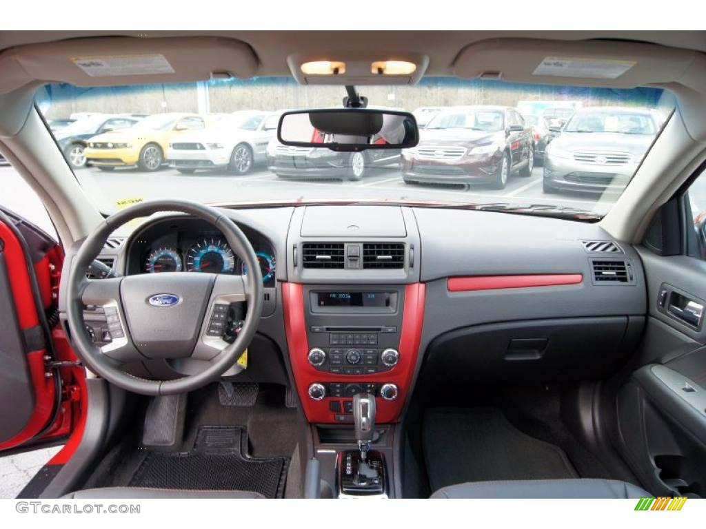 ford fusion sport sport redcharcoal black dashboard
