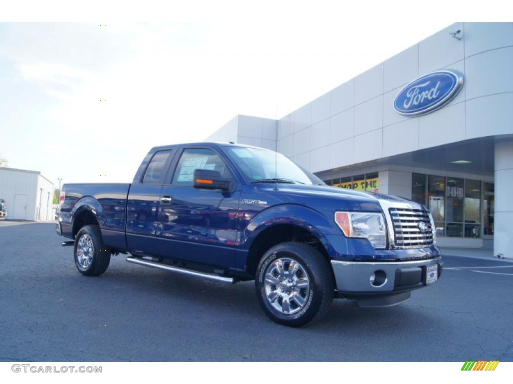 2011 dark blue pearl metallic ford f150 xlt supercab 47445154 car color galleries. Black Bedroom Furniture Sets. Home Design Ideas