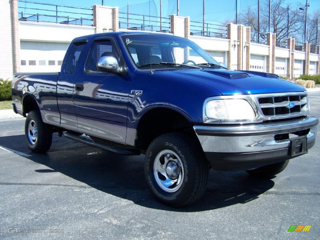 1997 moonlight blue metallic ford f150 xl extended cab. Black Bedroom Furniture Sets. Home Design Ideas