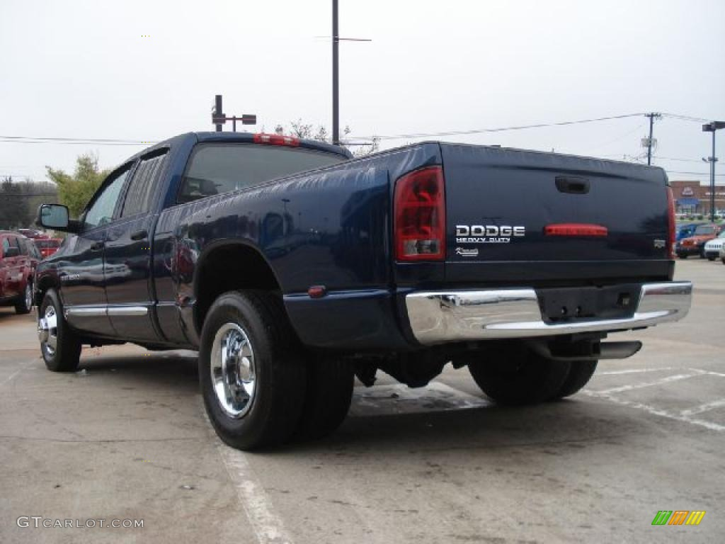 patriot blue pearl 2004 dodge ram 3500 laramie quad cab. Black Bedroom Furniture Sets. Home Design Ideas