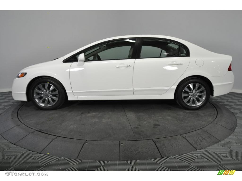 taffeta white 2009 honda civic ex l sedan exterior photo 47487235. Black Bedroom Furniture Sets. Home Design Ideas