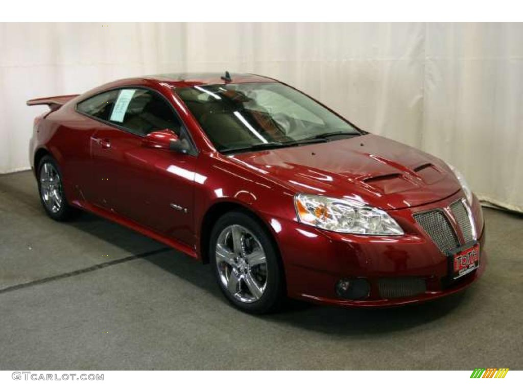 2008 Performance Red Metallic Pontiac G6 Gxp Coupe