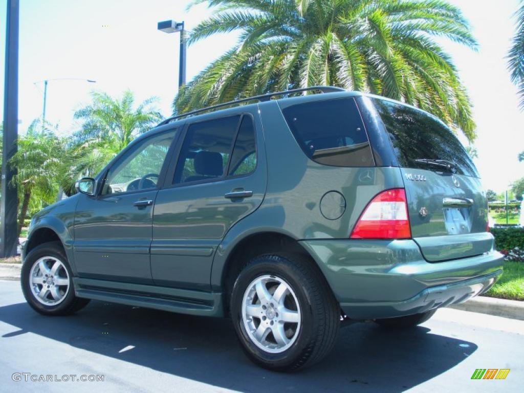 Designo mystic green metallic 2003 mercedes benz ml 500 for Mercedes benz green