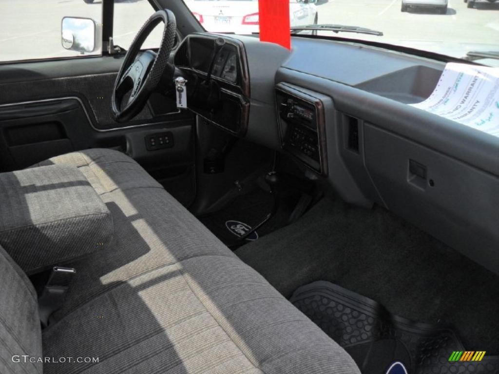 Gray Interior 1990 Ford F150 XLT Lariat Regular Cab Photo #47509915 ...
