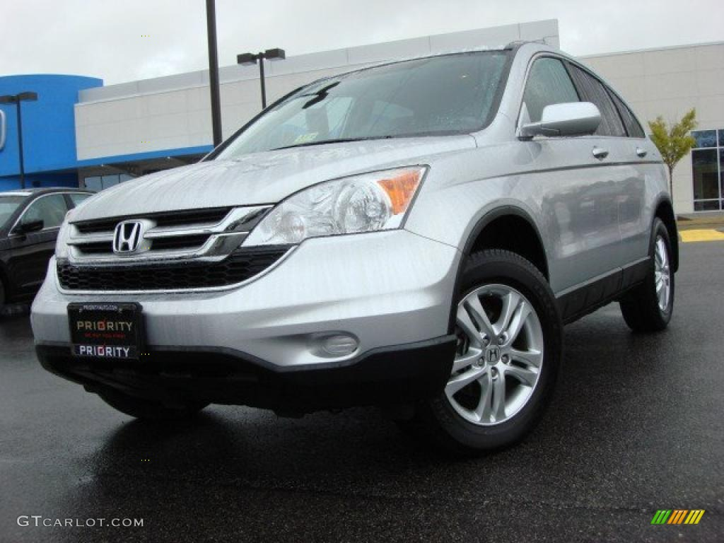 2010 CR-V EX-L - Alabaster Silver Metallic / Gray photo #1