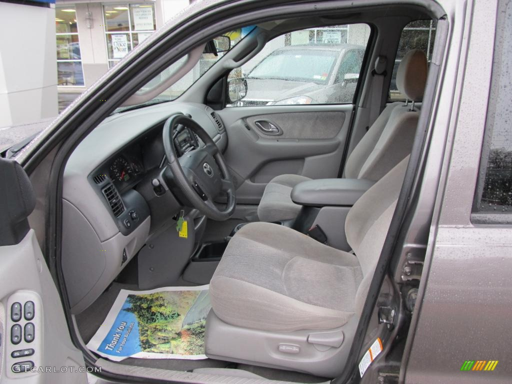 gray interior 2002 mazda tribute lx v6 4wd photo 47517322. Black Bedroom Furniture Sets. Home Design Ideas