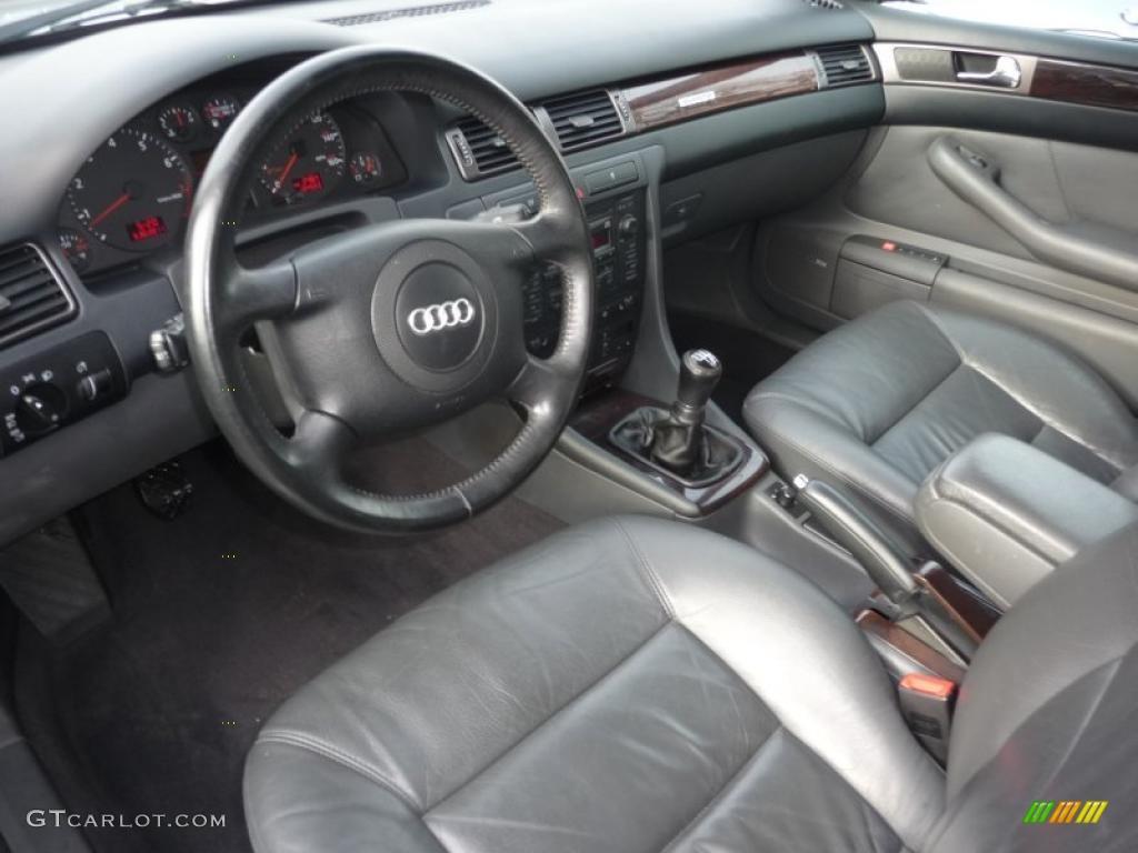 tungsten grey interior 2001 audi a6 2 7t quattro sedan. Black Bedroom Furniture Sets. Home Design Ideas