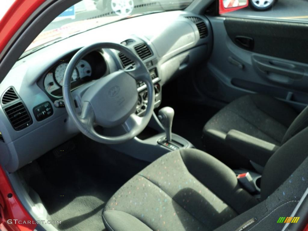 Gray Interior 2005 Hyundai Accent Gls Coupe Photo
