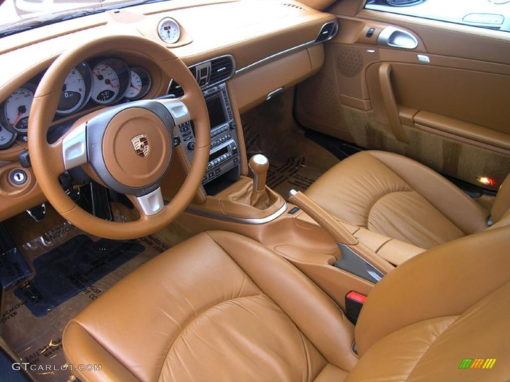 Natural Leather Brown Interior 2007 Porsche 911 Targa 4S Photo #47531779