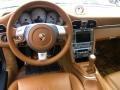 Natural Leather Brown 2007 Porsche 911 Targa 4S Dashboard