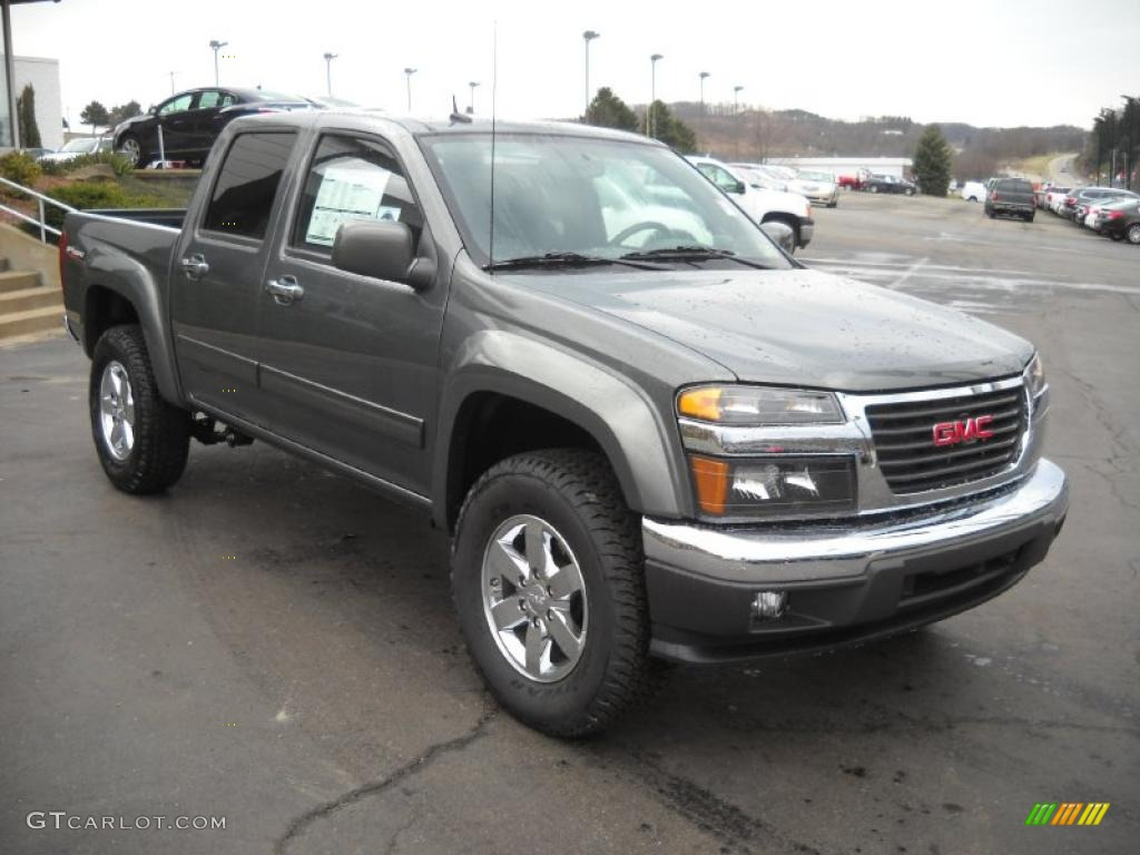 gray green metallic 2011 gmc canyon sle crew cab 4x4 exterior photo 47539805. Black Bedroom Furniture Sets. Home Design Ideas