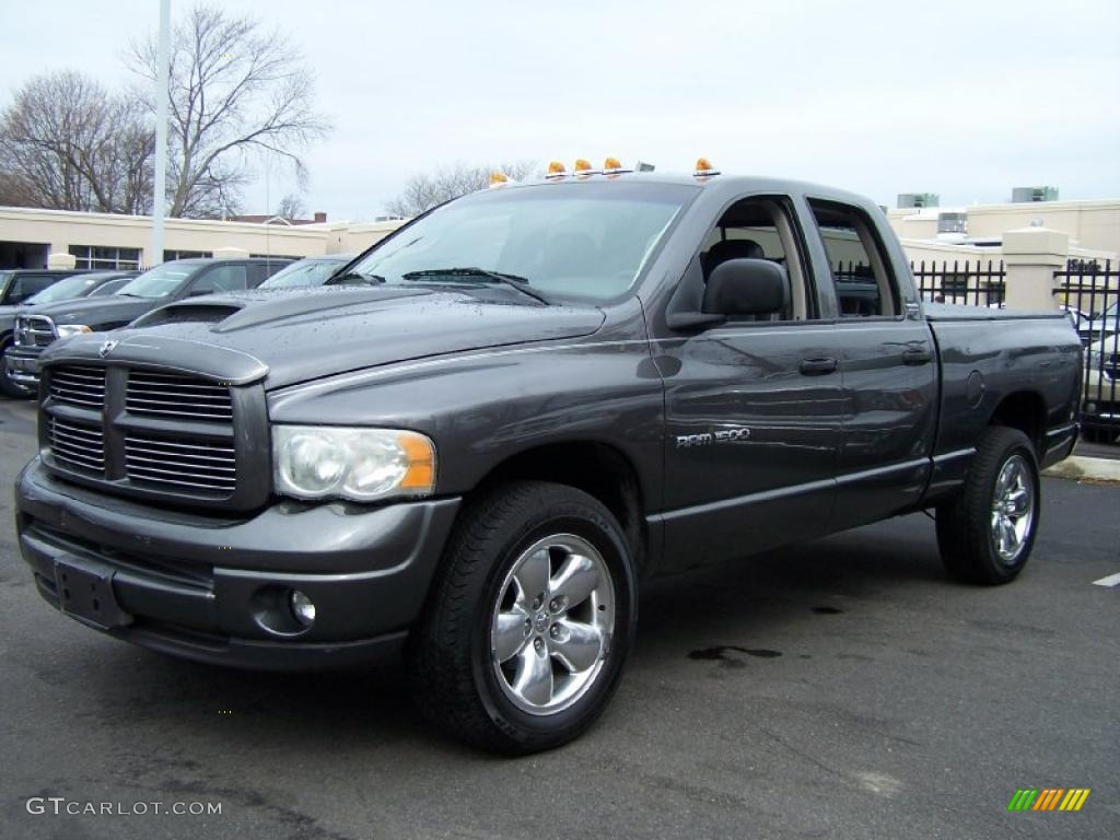 2002 graphite metallic dodge ram 1500 sport quad cab 4x4 47539584 car color. Black Bedroom Furniture Sets. Home Design Ideas