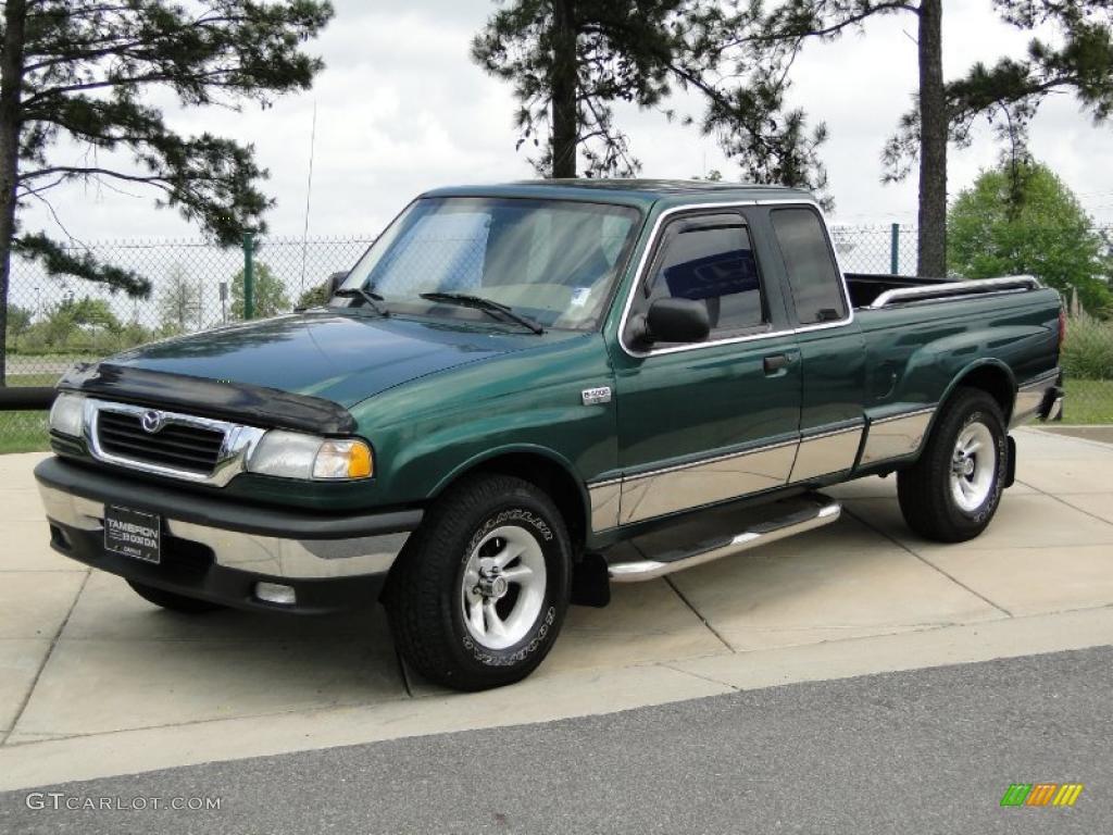 Green Metallic 1999 Mazda B Series Truck B4000 Se Extended Cab Exterior Photo