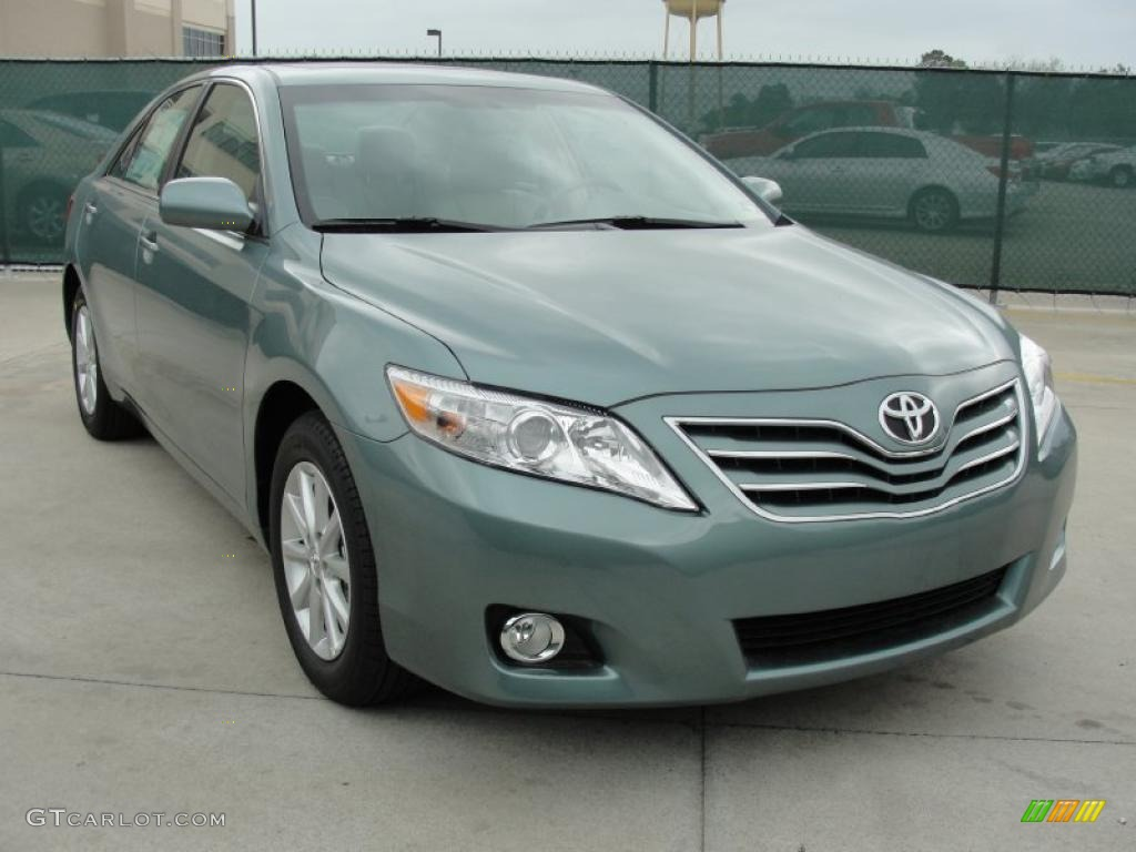 2011 Aloe Green Metallic Toyota Camry Xle V6 47539285 Gtcarlot Com Car Color Galleries