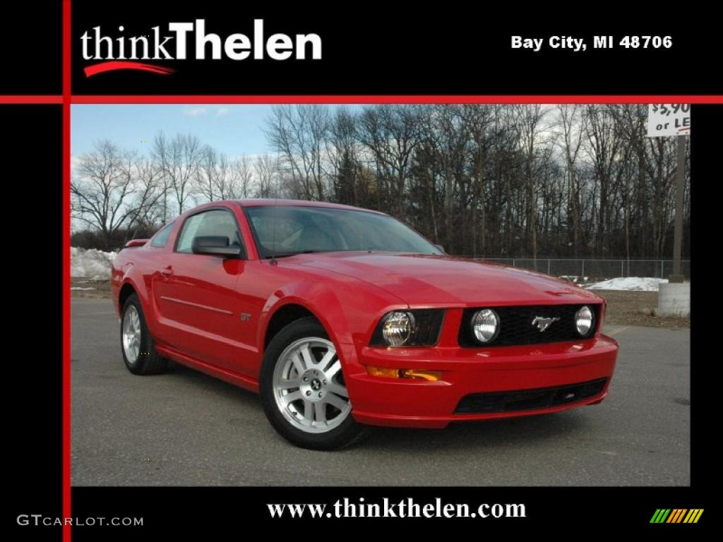 2007 Mustang GT Premium Coupe - Torch Red / Medium Parchment photo #1