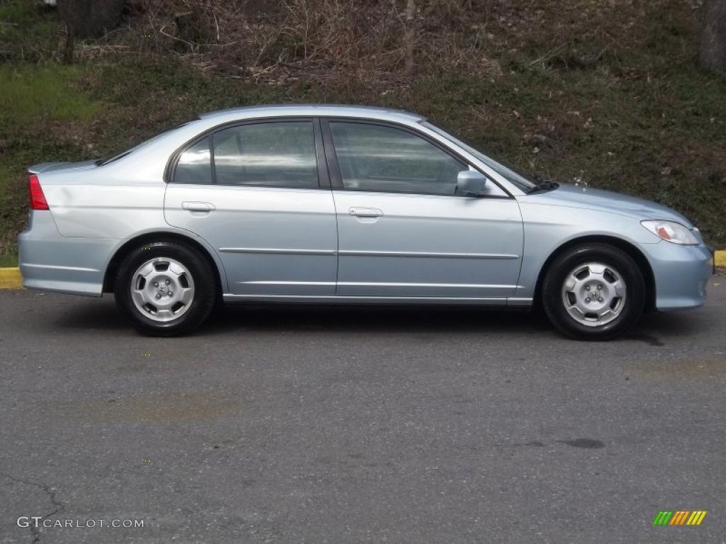 opal silver blue metallic 2004 honda civic hybrid sedan. Black Bedroom Furniture Sets. Home Design Ideas