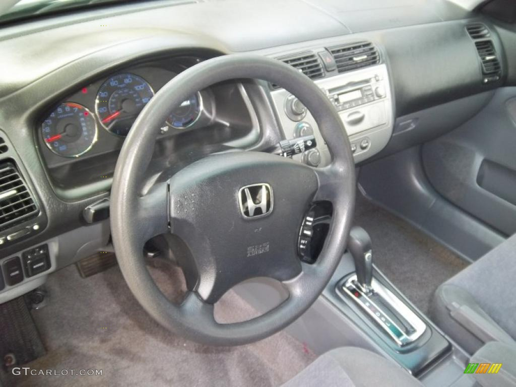 Gray Interior 2004 Honda Civic Hybrid Sedan Photo 47581991