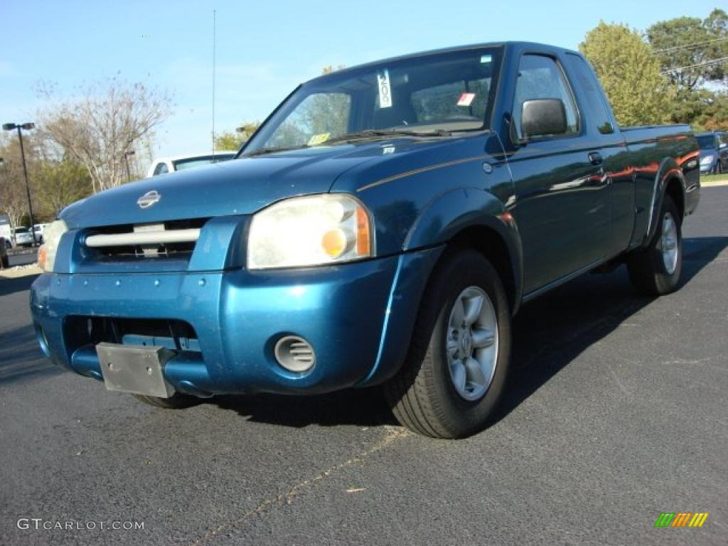 2001 electric blue metallic nissan frontier xe king cab. Black Bedroom Furniture Sets. Home Design Ideas