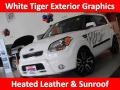 Clear White/Grey Graphics 2011 Kia Soul White Tiger Special Edition