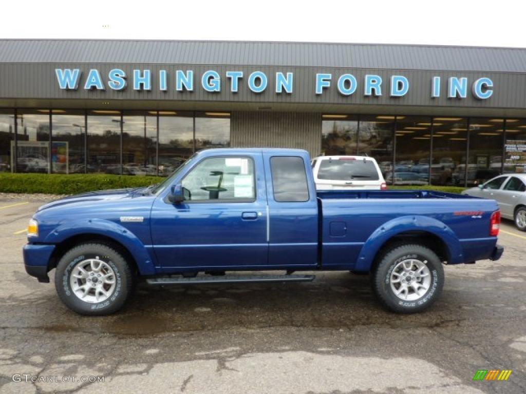 2011 vista blue metallic ford ranger sport supercab 4x4 47584447 car color. Black Bedroom Furniture Sets. Home Design Ideas