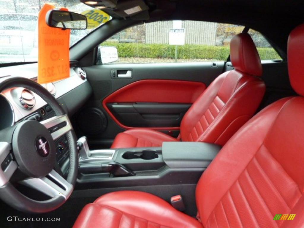 Red leather interior 2005 ford mustang gt premium convertible photo 47611130 for 2005 ford mustang convertible interior