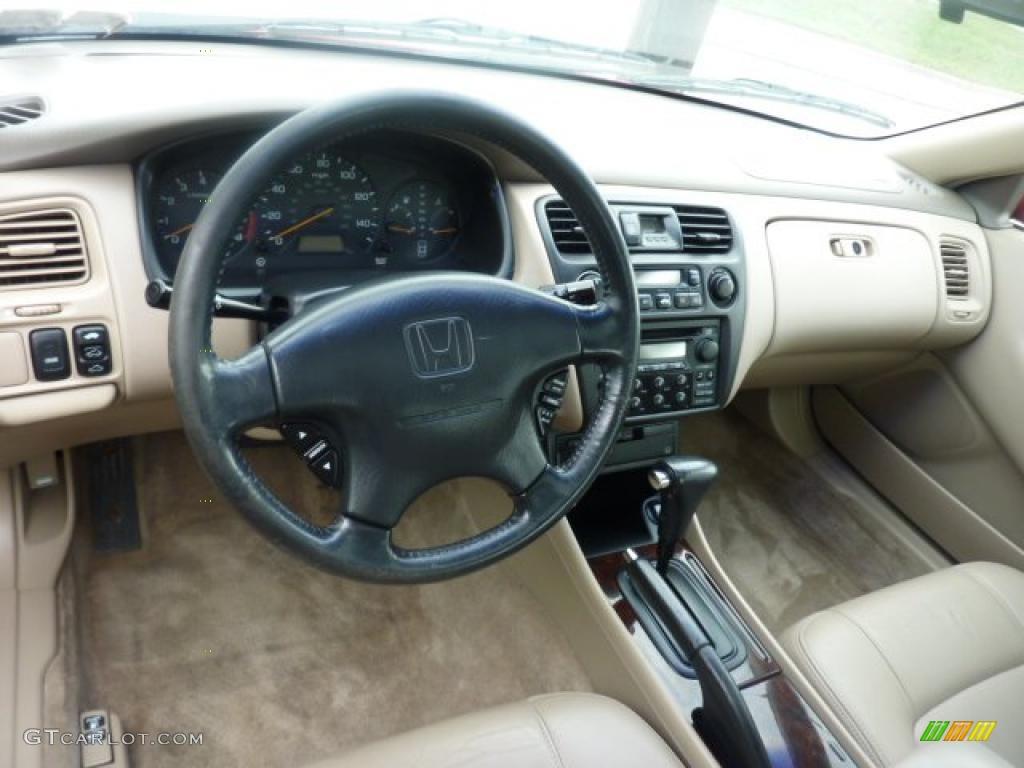 Ivory Interior 1998 Honda Accord Ex V6 Coupe Photo 47611979