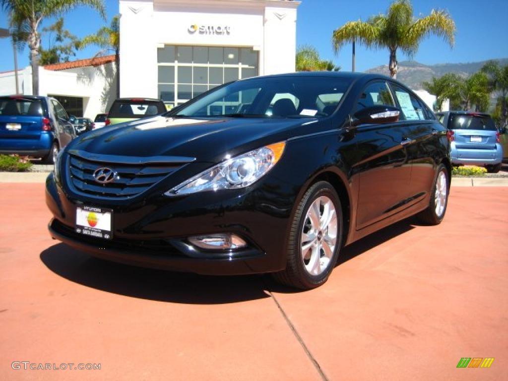 2011 Midnight Black Hyundai Sonata Limited 47584165