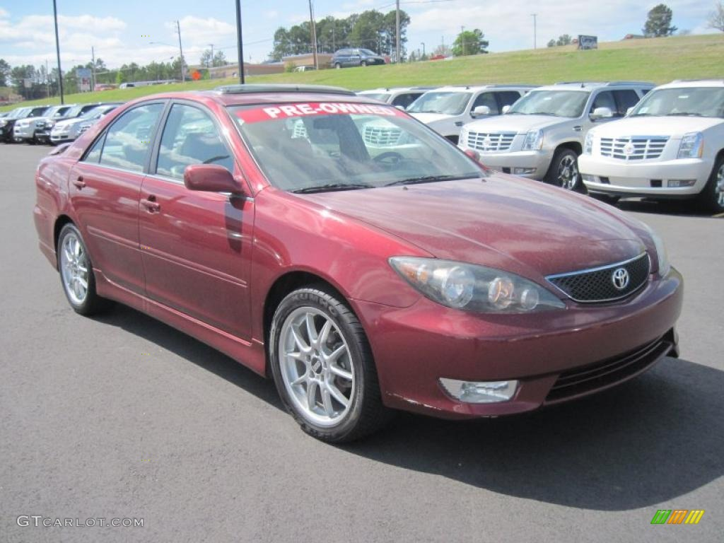 Salsa Red Pearl 2006 Toyota Camry Se Exterior Photo