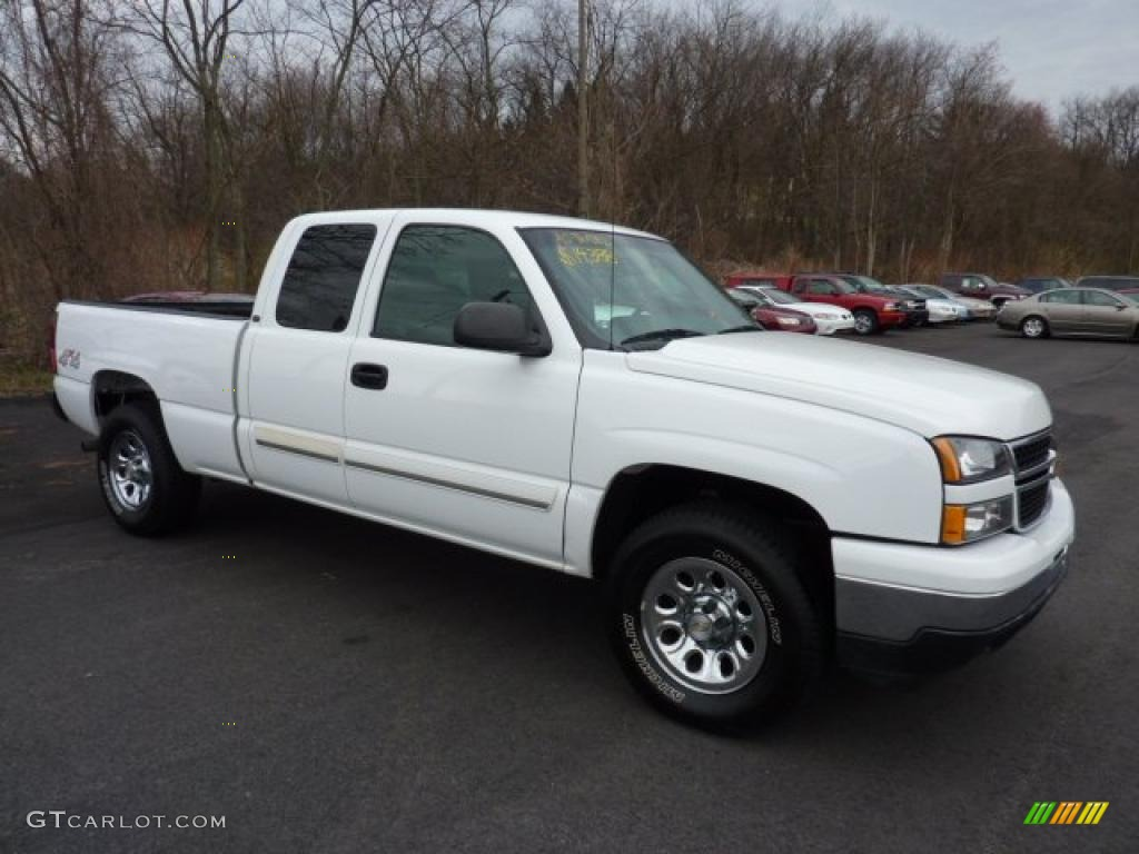 2007 summit white chevrolet silverado 1500 classic ls extended cab 4x4 47635812. Black Bedroom Furniture Sets. Home Design Ideas