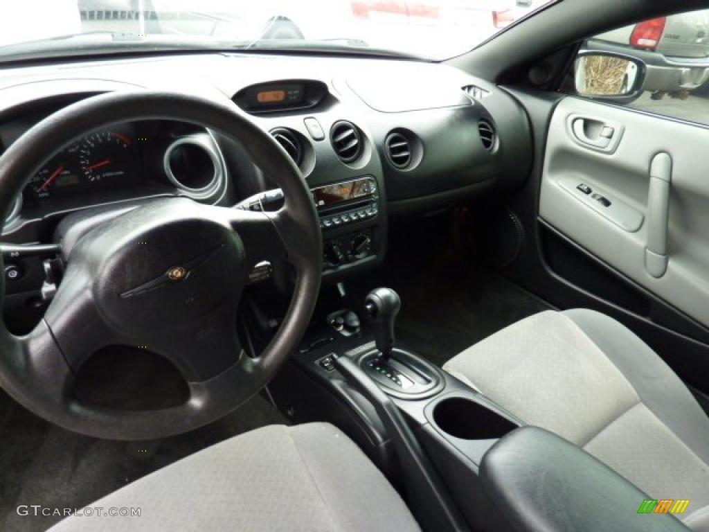 Black Light Gray Interior 2002 Chrysler Sebring Lx Coupe