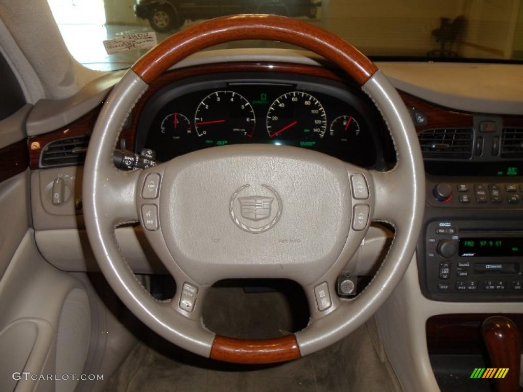2002 Cadillac Deville Dts Neutral Shale Steering Wheel Photo 47647747