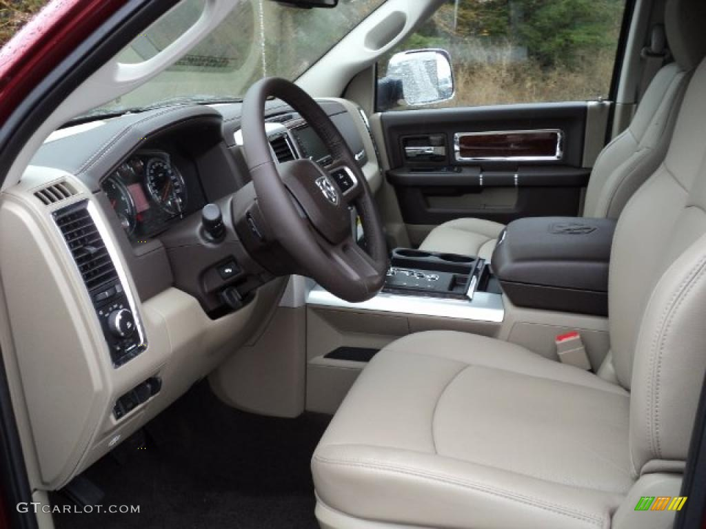 2011 Ram 1500 Laramie Crew Cab 4x4 - Deep Cherry Red Crystal Pearl / Light Pebble Beige/Bark Brown photo #8