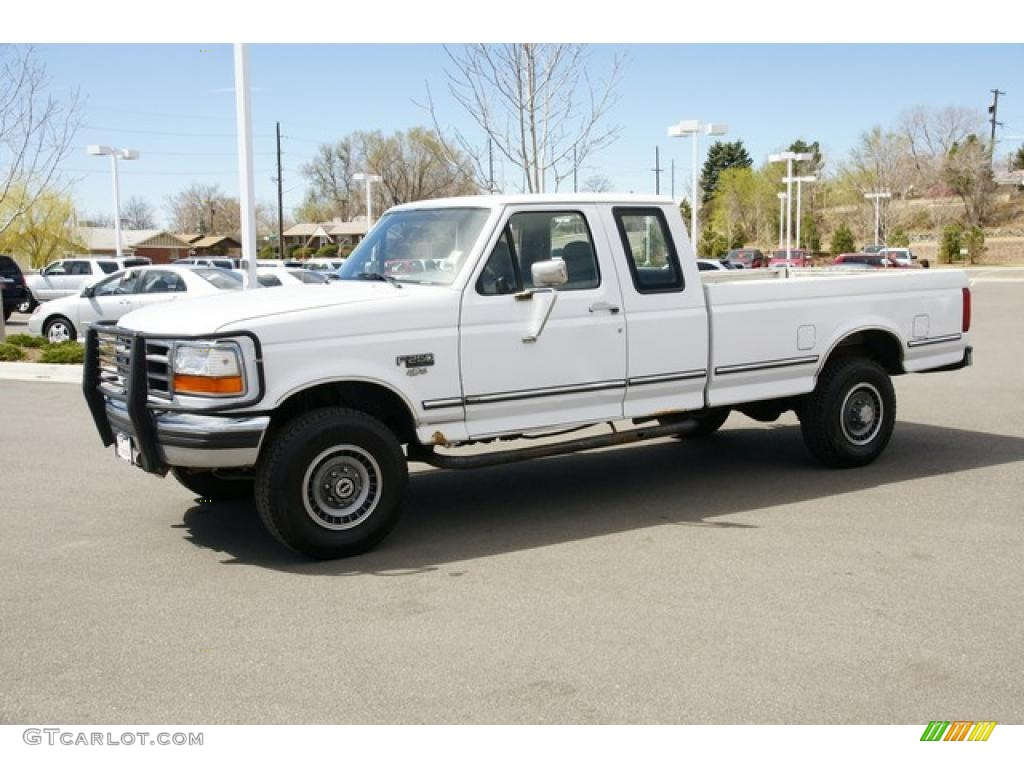 1994 f250 xlt extended cab 4x4 white gray photo 5