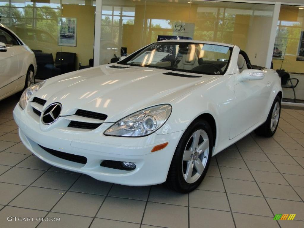 2008 arctic white mercedes benz slk 280 roadster 47636370 for Mercedes benz polar white paint