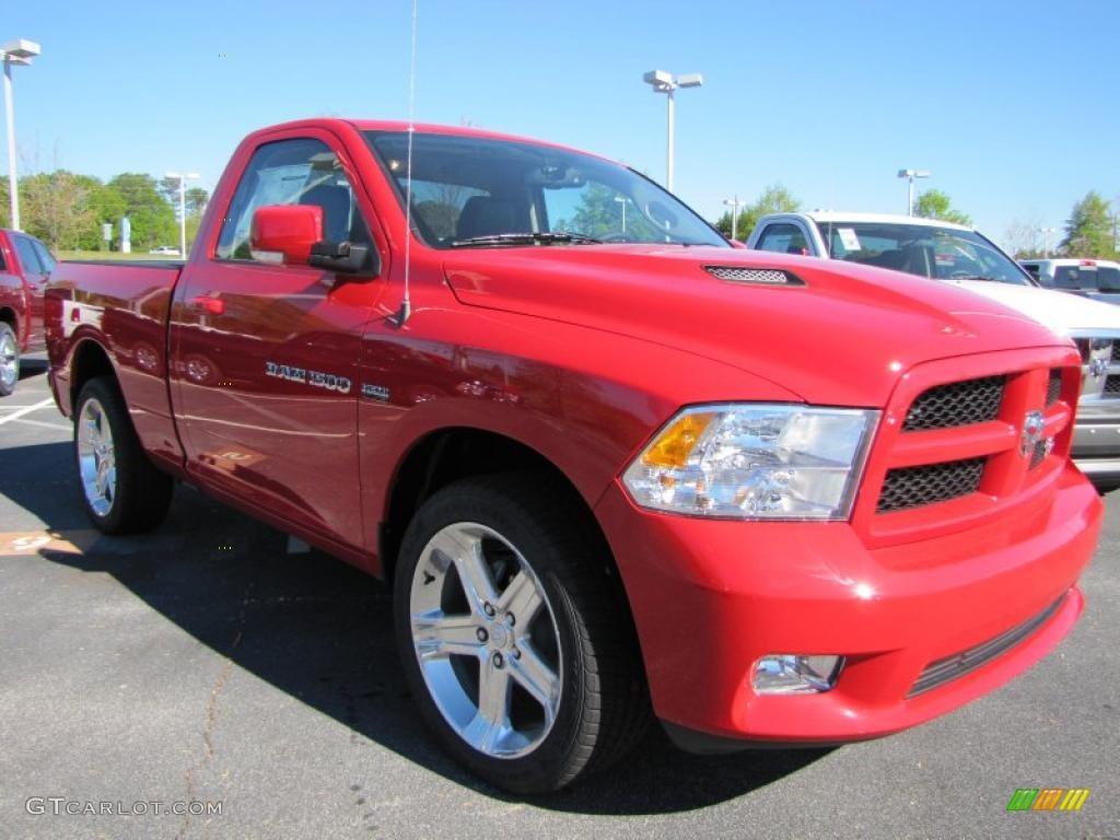 Flame red 2011 dodge ram 1500 sport r t regular cab exterior photo 47680489