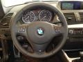 2011 BMW 1 Series Black Interior Steering Wheel Photo