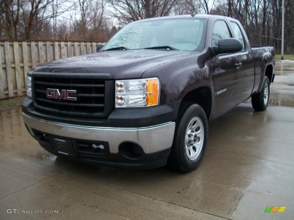 dark crimson metallic 2008 gmc sierra 1500 extended cab. Black Bedroom Furniture Sets. Home Design Ideas