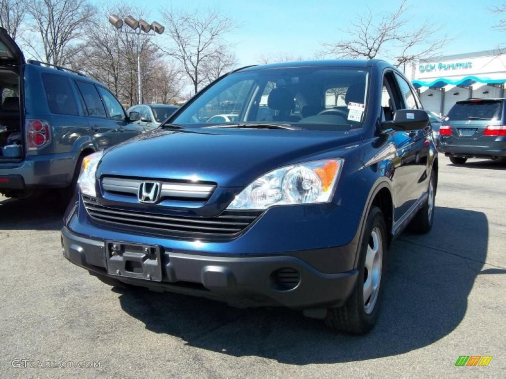 2008 CR-V LX 4WD - Royal Blue Pearl / Black photo #4