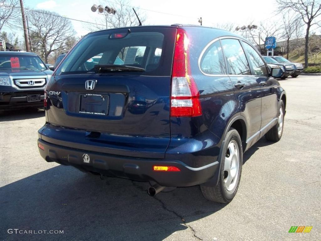 2008 CR-V LX 4WD - Royal Blue Pearl / Black photo #5