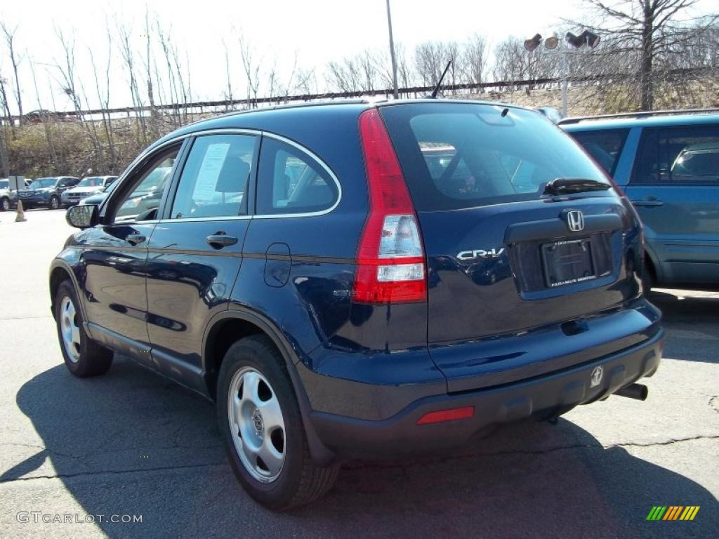 2008 CR-V LX 4WD - Royal Blue Pearl / Black photo #7