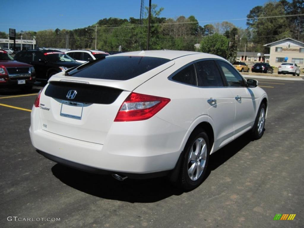 White Diamond Pearl 2011 Honda Accord Crosstour Ex L