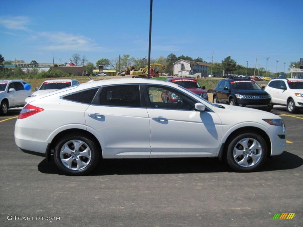 White Diamond Pearl 2011 Honda Accord Crosstour Ex L