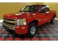 2009 Victory Red Chevrolet Silverado 1500 LT Extended Cab 4x4  photo #2