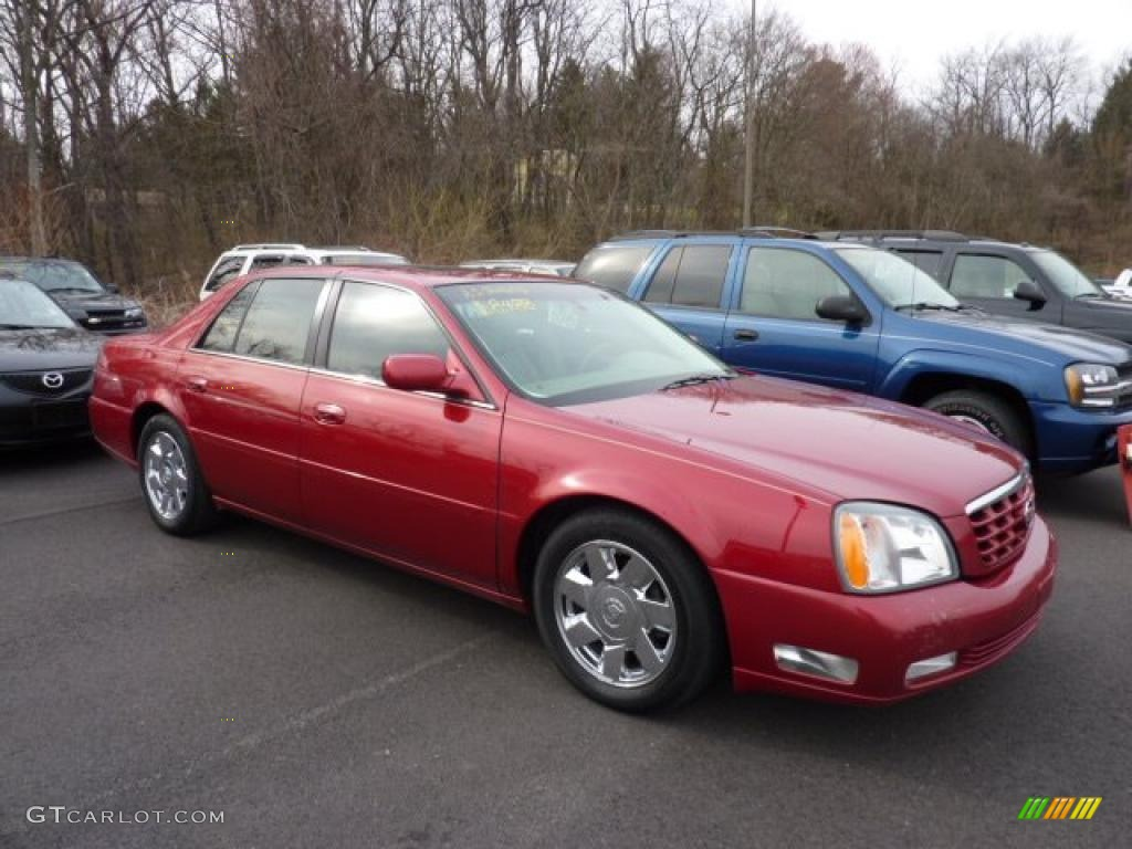 Crimson Pearl 2002 Cadillac DeVille DTS Exterior Photo #47734522