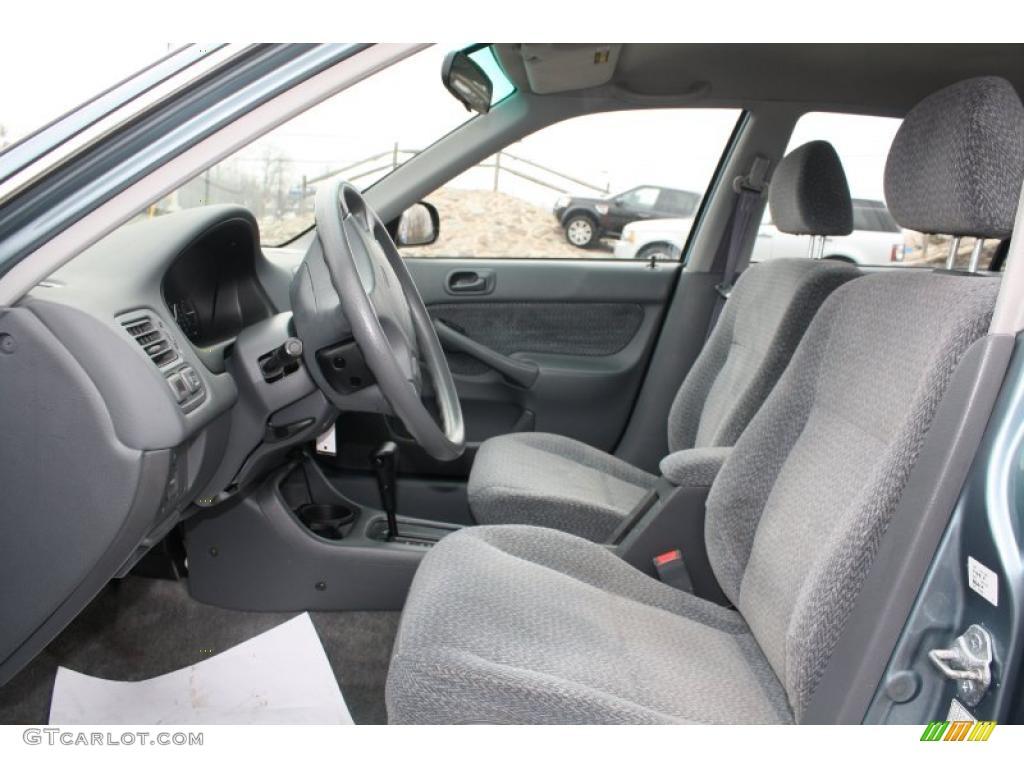 Gray Interior 2000 Honda Civic Lx Sedan Photo 47741656